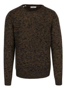 Čierno-kaki melírovaný sveter Selected Homme Bart