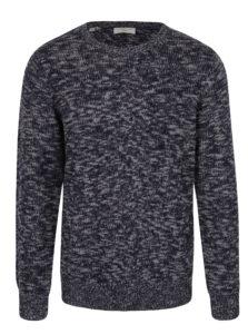Sivo-modrý melírovaný sveter Selected Homme Bart