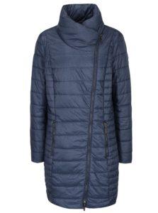 Modrý melírovaný prešívaný kabát Gina Laura