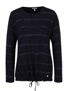 Tmavomodrý pruhovaný sveter Gina Laura