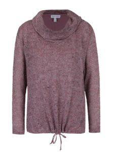 Svetlofialový melírovaný sveter so všitým tielkom 2v1 Gina Laura