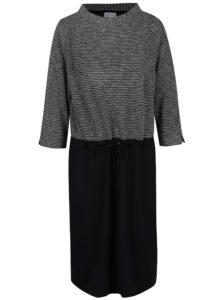 Čierno-biele šaty s pruhovaným topom Gina Laura