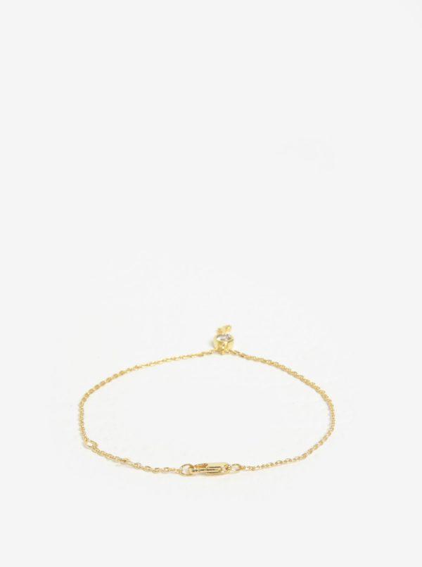 Náramok s príveskom kľúča v zlatej farbe Pieces Anchor