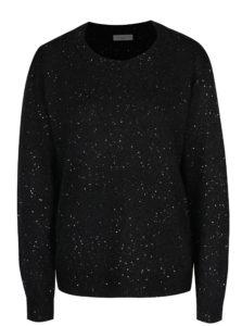 Čierny sveter s flitrami Jacqueline de Yong Glitter