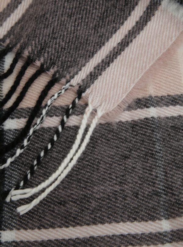 Bielo–čierny kockovaný šál Miss Selfridge