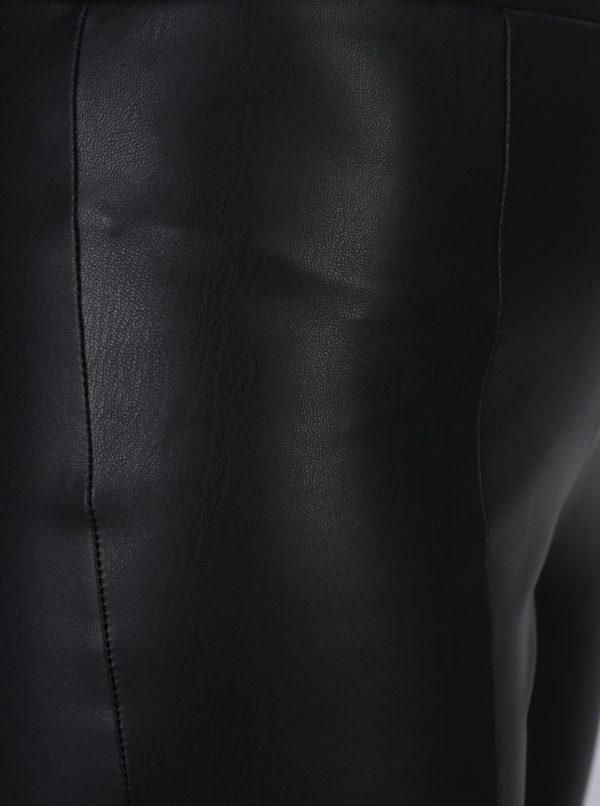 Čierne koženkové legíny Noisy May Noelle
