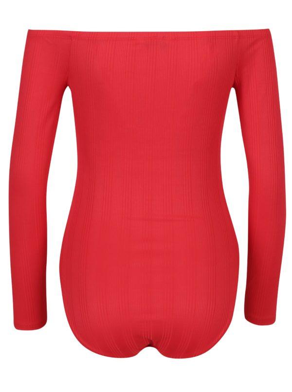 Červené body s odhalenými ramenami Miss Selfridge