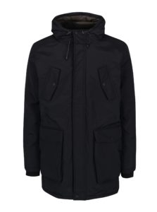 Čierna zimná parka s kapucňou Burton Menswear London