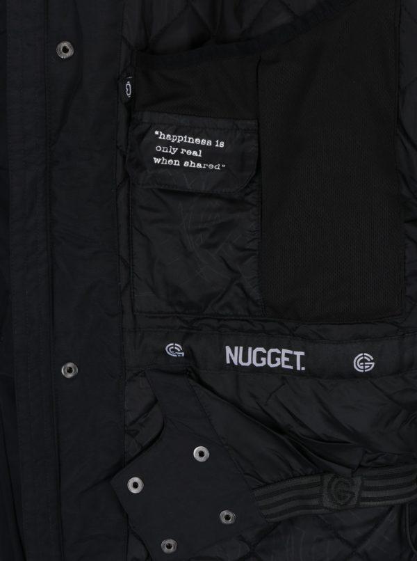 Čierna pánska nepremokavá zimná bunda NUGGET Challenger