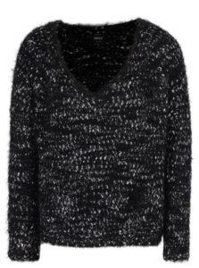 Sivo-čierny sveter ONLY Poppy