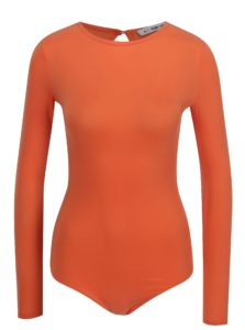 Oranžové body s dlhým rukávom Alexandra Ghiorghie Rina
