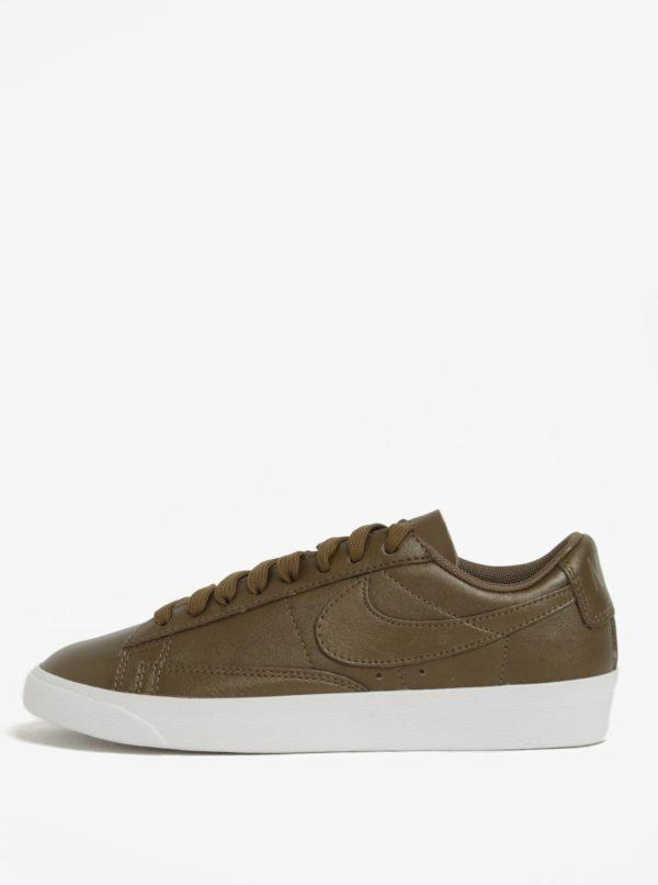 Kaki dámske kožené tenisky Nike Blazer Low