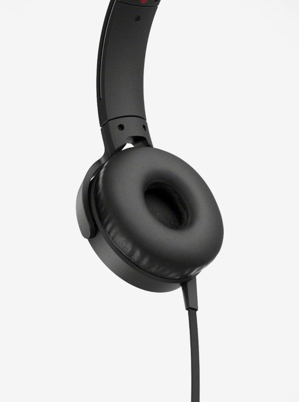 Čierne slúchadlá s mikrofónom SONY Extra Bass
