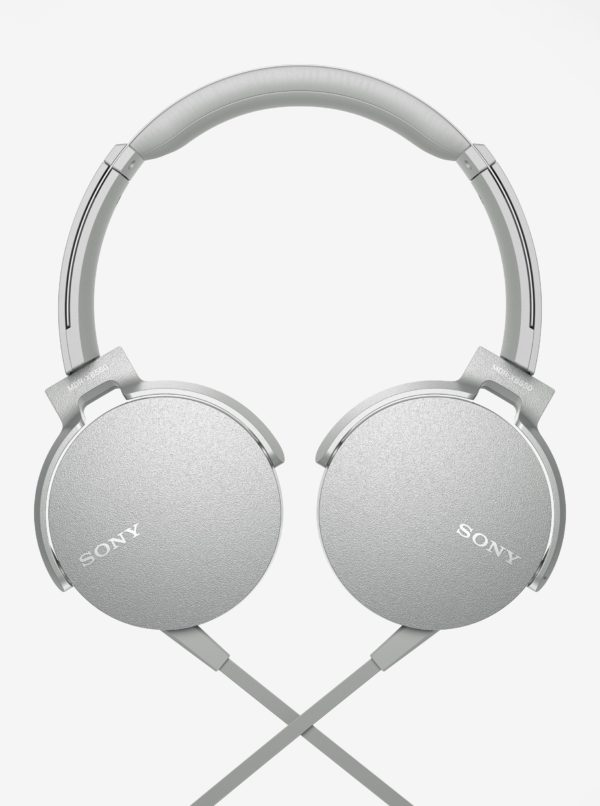 Sivé slúchadlá s mikrofónom SONY Extra Bass