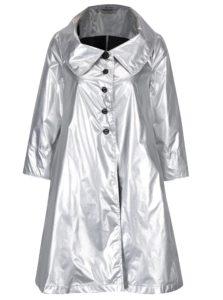 Tenký kabát v striebornej farbe Alexandra Ghiorghie Terra