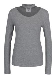 Sivé dámske tričko s chokerom Cheap Monday
