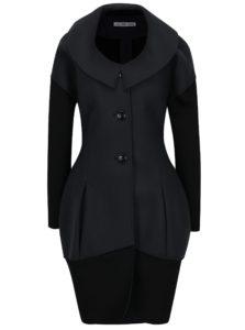 Čierno-sivý kabát Alexandra Ghiorghie Doppir
