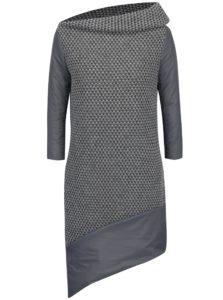 Sivé vlnené svetrové šaty s vypchávkou Alexandra Ghiorghie Moroza