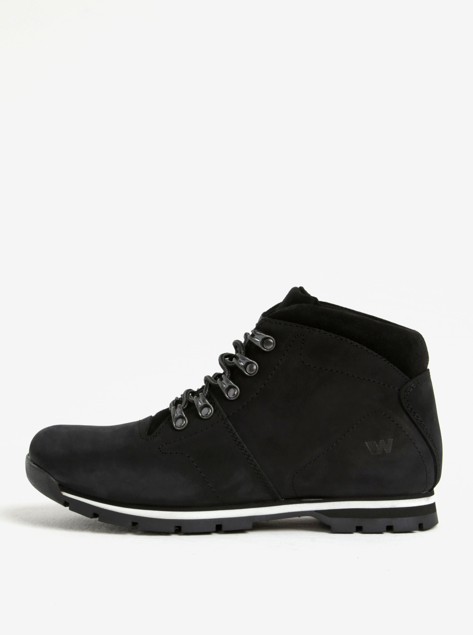 4b1ee5f641c5 Čierne pánske kožené členkové topánky Weinbrenner