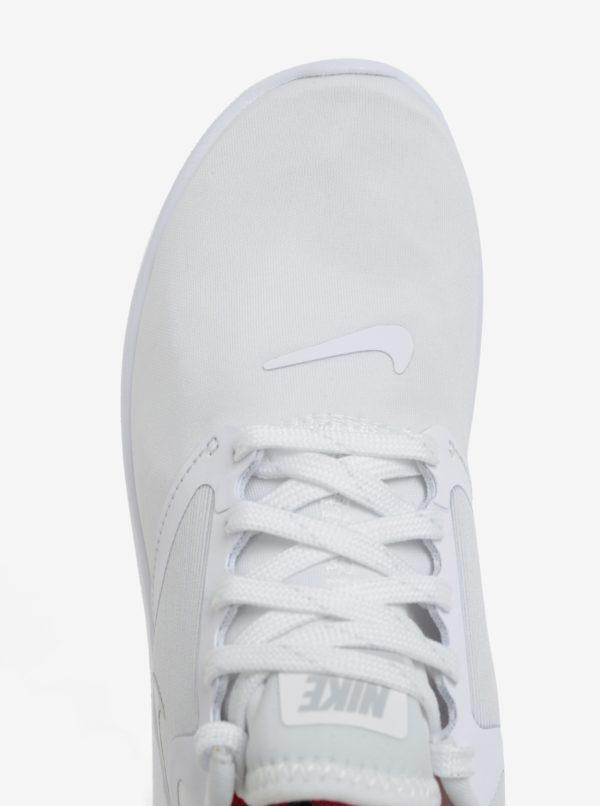 Biele dámske tenisky na platforme Nike Lunarsolo