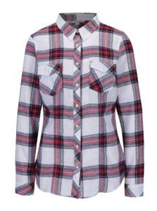 Vínovo-krémová károvaná košeľa s vreckami TALLY WEiJL