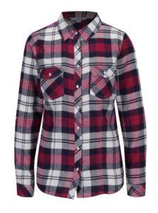 Krémovo-vínová károvaná košeľa s vreckami TALLY WEiJL