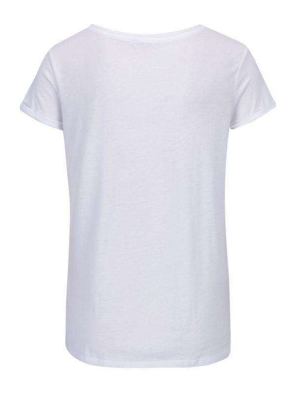Biele tričko s vreckom a nášivkou TALLY WEiJL