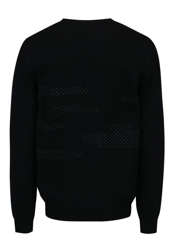 Bielo-čierny sveter z merino vlny Live Sweaters Error On The Moon
