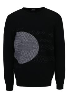 Bielo-čierny sveter z merino vlny Live Sweaters Error On The Moon