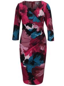 Tyrkysovo-ružové puzdrové šaty s prekladaným výstrihom Dorothy Perkins