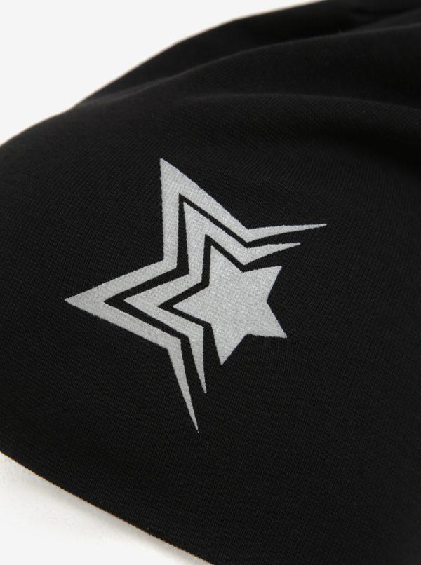 Čierna dievčenská čiapka s reflexným prvkom Name It Moppy