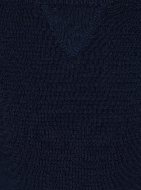 Tmavomodrý chlapčenský rebrovaný tenký sveter Name it Iras