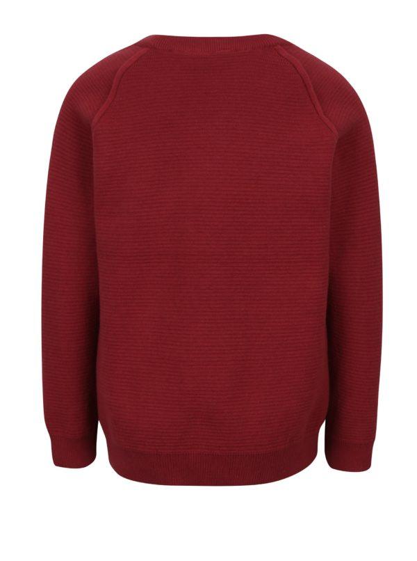Červený chlapčenský rebrovaný tenký sveter Name it Iras