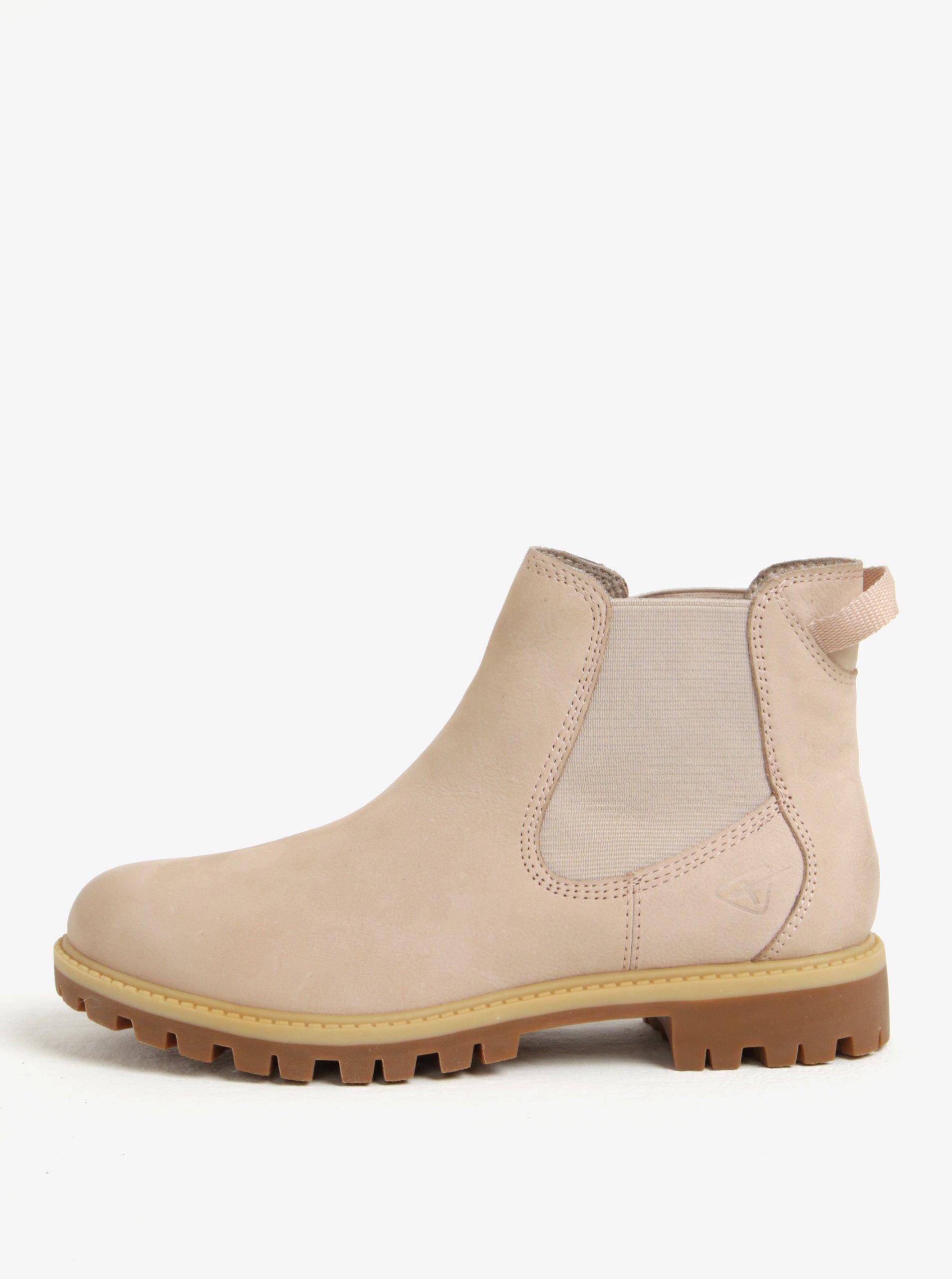 70ed6cbe373c Svetloružové kožené chelsea topánky Tamaris