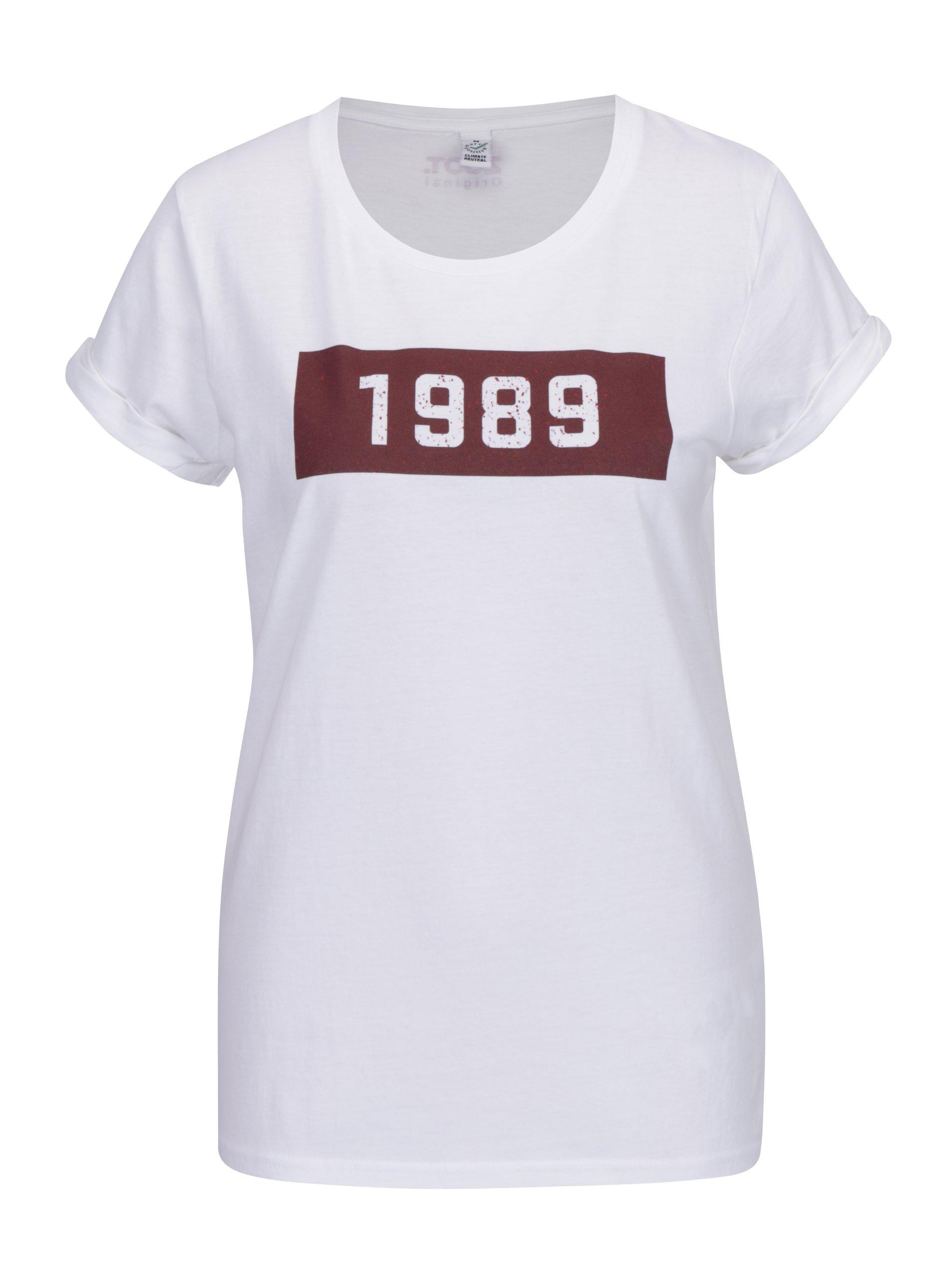 e14d24138d39 Biele dámske tričko s potlačou ZOOT Original 1989