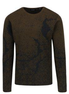 Sivo-kaki vzorovaný sveter ONLY & SONS Orville