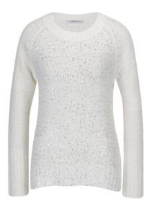 Krémový sveter s flitrami Haily's Julia