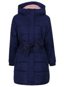 Tmavomodrý dievčenský vodovzdorný zimný kabát s kapucňou 5.10.15.
