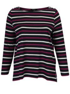 Ružovo–modré pruhované tričko Ulla Popken