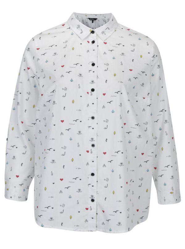 Biela košeľa s drobným vzorom Ulla Popken