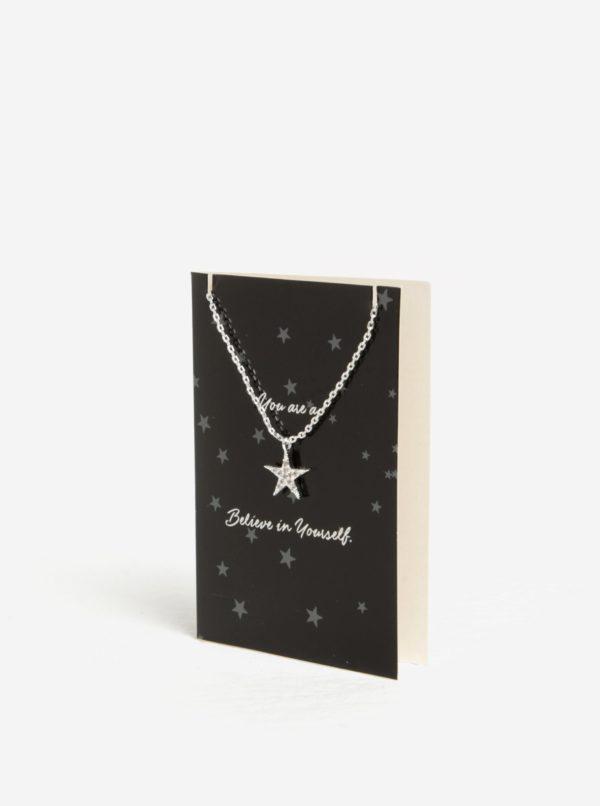 Náramok s príveskom hviezdy v striebornej farbe Pieces Anchor