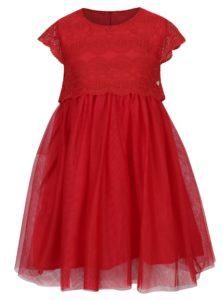 Červené dievčenské šaty s tylovou sukňou a čipkovaným vrchným dielom 5.10.15.