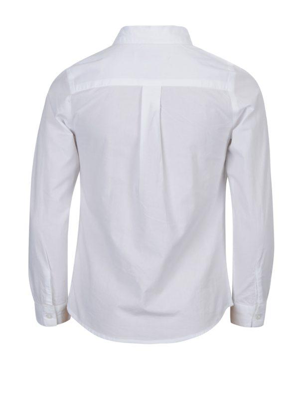 Biela dievčenská košeľa s fiží 5.10.15.