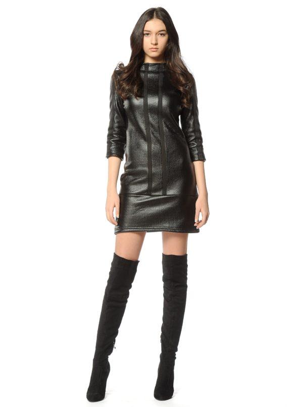 Čierne šaty s 3/4 rukávom Alexandra Ghiorghie Rero