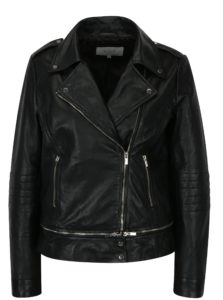 Čierna kožená bunda VILA Nicola