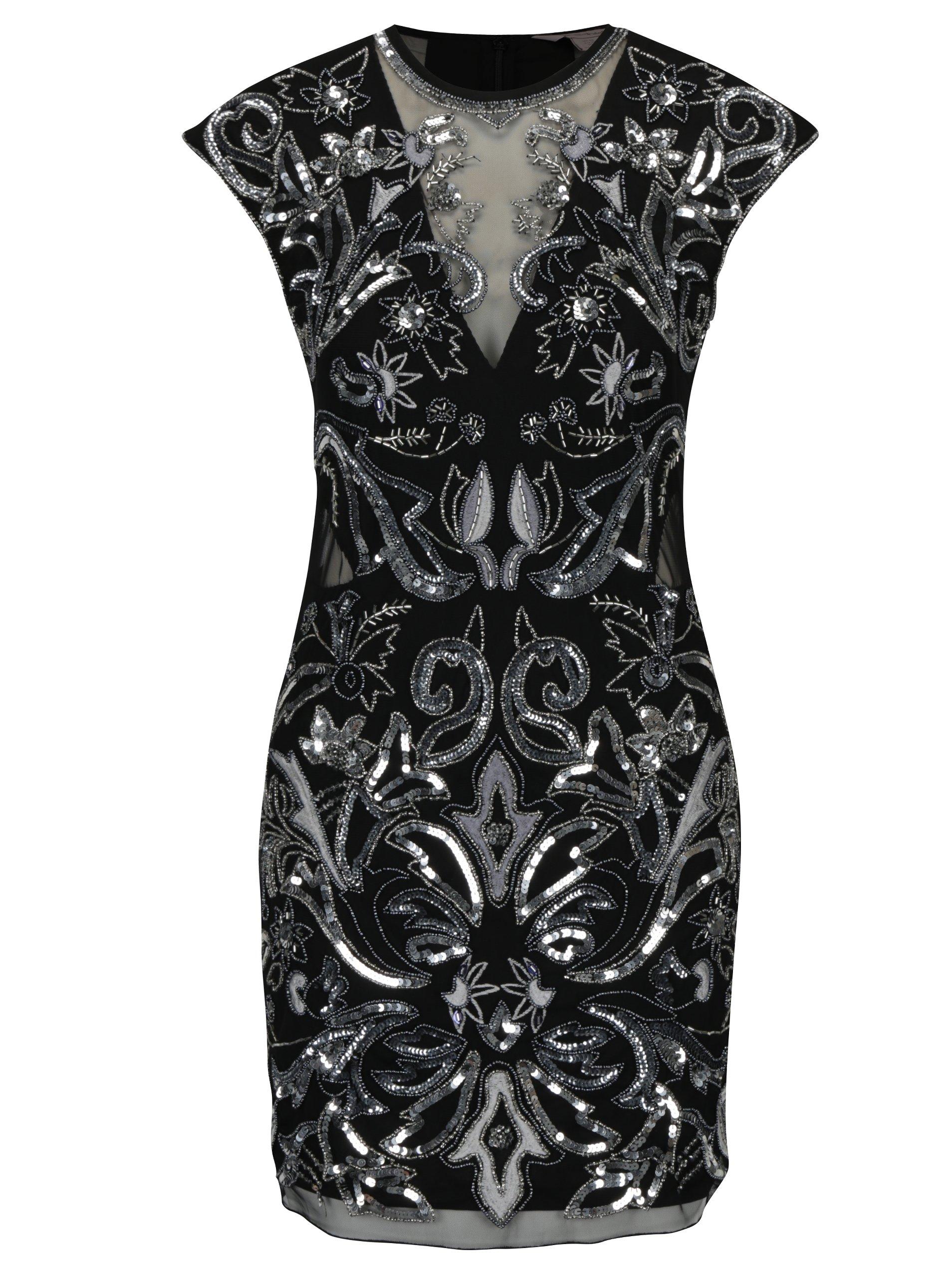 b45be6622853 Čierne šaty s flitrami