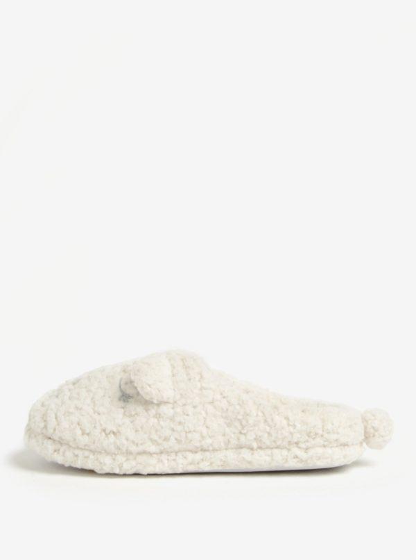 Krémové papuče Dorothy Perkins