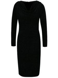 Čierne trblietavé zamatové šaty Dorothy Perkins