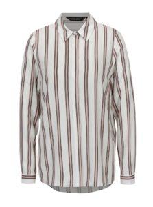 Ružovo-krémová pruhovaná košeľa Dorothy Perkins