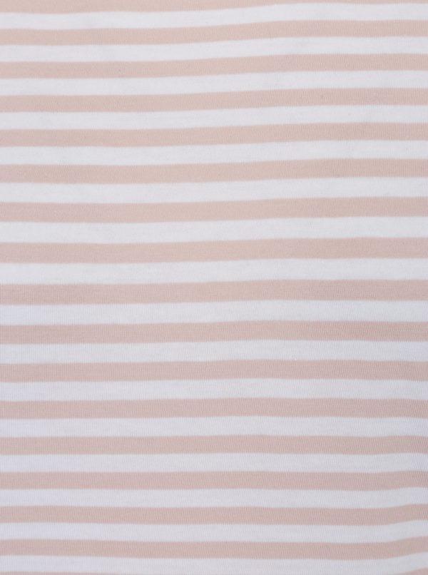 Bielo-ružové pruhované tričko Selected Femme MyPerfect
